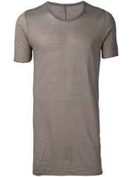 Rick Owens Loose Fit T Shirt Grey
