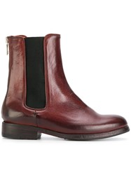 Sartori Gold Chelsea Boots Calf Leather Leather Rubber Red