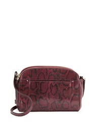 Cole Haan Tawny Snake Embossed Leather Crossbody Tawny Port