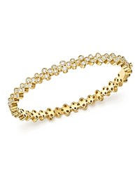 Temple St. Clair 18K Yellow Gold Eternity Diamond Trio Bangle Bracelet White Gold