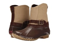 Chooka Canvas Step In Duck Boot Chocolate Women's Rain Boots Brown