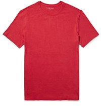Derek Rose Basel Stretch Micro Modal Jersey T Shirt Red