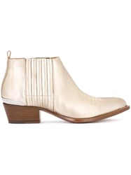 Buttero Metallic Grey Ankle Boots