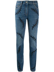 Moschino Embroidered Detail Skinny Jeans 60