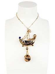 Sonia Boyajian Gypsy Circus Gold Plated Necklace