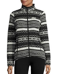 Jack Wolfskin Fair Isle Fleece Lined Jacket Black