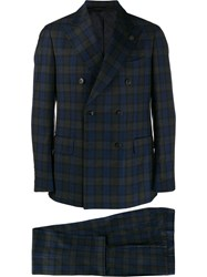 Gabriele Pasini Plaid Double Breasted Coat Blue