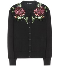 Dolce And Gabbana Cashmere Silk Cardigan Black