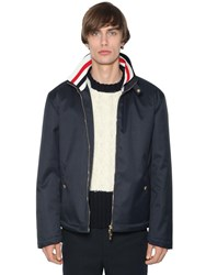 Thom Browne Zip Up Tech Canvas Jacket Navy
