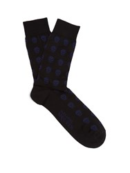Alexander Mcqueen Skull Jacquard Cotton Blend Socks Black Multi