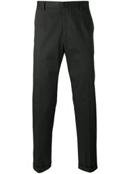 Dolce And Gabbana Piped Trousers Black