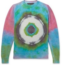 The Elder Statesman Tie Dyed Cashmere Sweater Multi