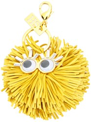 Sophie Hulme Scout Keyring Women Calf Leather One Size Yellow Orange