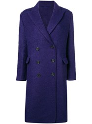 Ermanno Scervino Double Breasted Coat Pink And Purple