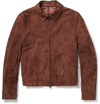 Dunhill Sampson Suede Jacket Brown