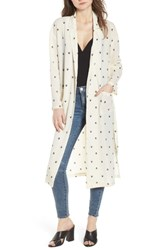 Leith Print Duster Ivory Sketch Diamond Spaced