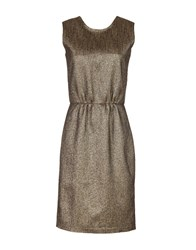 Pomandere Knee Length Dresses Bronze