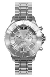 Versus By Versace 'Tokyo' Chronograph Watch 44Mm Silver