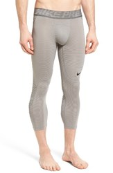 Nike Men's Hypercool Crop Training Tights Dust Tumbled Grey Black
