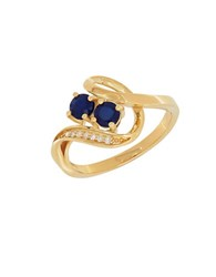 Lord And Taylor Diamonds Sapphire 14K Yellow Gold Ring Blue