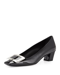 Roger Vivier Decollette Belle Patent Pump Black