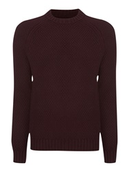 Label Lab Absinthe Textured Crew Neck Knit Burgundy