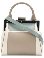 cfa8a18984 Perrin Paris Panelled Shoulder Bag Nude And Neutrals