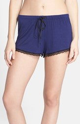 Joe's Jeans Women's Joe's 'Cara' Lace Trim Shorts Navy
