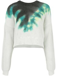 A.L.C. Elinor Tie Dye Sweater Green