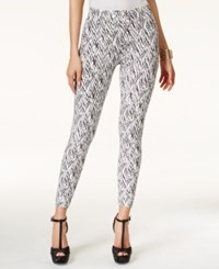 Thalia Sodi Chevron Print Pull On Leggings Only At Macy's Deep Black Combo