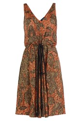 Lanvin Embroidered Dress With Silk