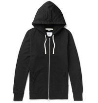 Reigning Champ Loopback Cotton Jersey Zip Up Hoodie Black