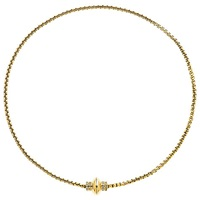 Finesse Gold Plated Swarovski Crystal Magnetic Necklace Gold