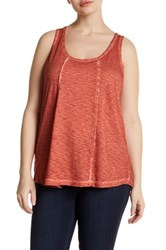 Melrose And Market Back Cutout Tank Plus Size Red