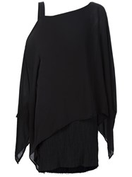 Lost And Found One Shoulder Asymmetric Tunic Black