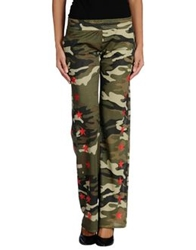 Odi Et Amo Casual Pants Military Green