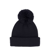 River Island Mens Navy Bobble Fisherman Beanie