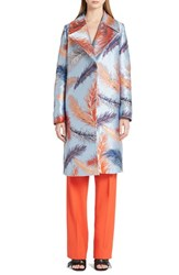Women's Emilio Pucci Feather Brocade Coat