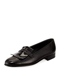 Gravati Leather Kiltie Loafer Black
