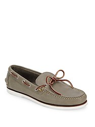 Eastland Tie Up Leather Boat Shoes Charcoal