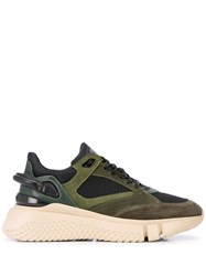 Buscemi Veloce Panelled Sneakers Green