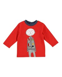 Little Marc Jacobs Mister Essentials Long Sleeve Graphic Tee Red