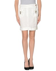 Yes Zee By Essenza Skirts Mini Skirts Women White