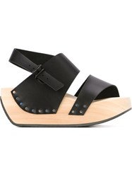 Trippen 'Hot' Platform Sole Sandals Black