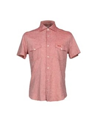 Cesare Paciotti 4Us Shirts Brick Red