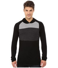Smartwool Nts Mid 250 Color Block Hoodie Black Men's Sweatshirt