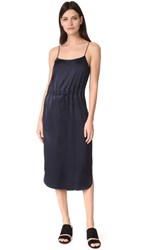 Dkny Sleeveless Dress With Grommets Classic Navy