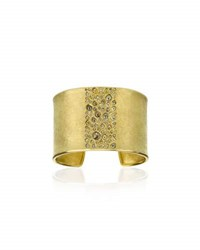 Todd Reed 18K Yellow Gold Bangle With Rose Cut Diamonds