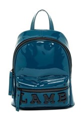 L.A.M.B. Imen Patent Leather Backpack Blue