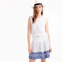 J.Crew Embroidered Gauze Eyelet Mini Skirt